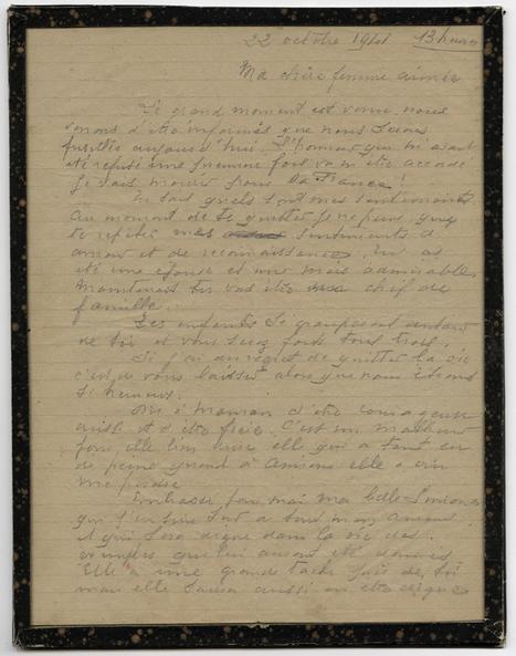 La dernière lettre de Léon Jost - [Musée d'histoire de Nantes] | Histoire 2 guerres | Scoop.it