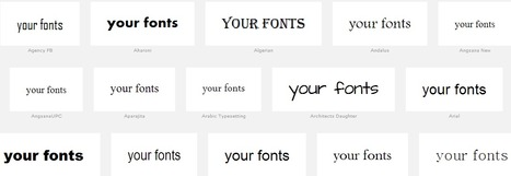 Wordmark.it - Choose the Best Font   21st Century Technology Integration   Scoop.it