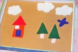 Gummy Lump: Toys that Make Sweet Memories: Sandpaper & Felt Traveling Art Board Craft for Preschoolers | Literacia no Jardim de Infância | Scoop.it