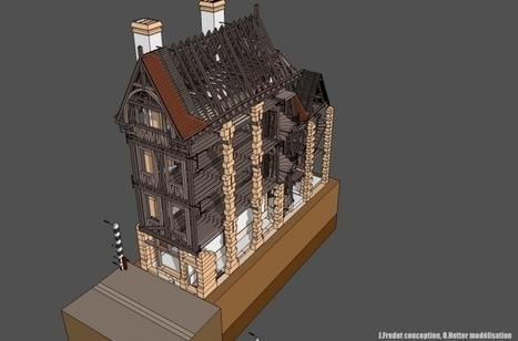 Une étonnante maison médiévale en 3D, sous SketchUp, aux Archives Nationales | Monde médiéval | Scoop.it