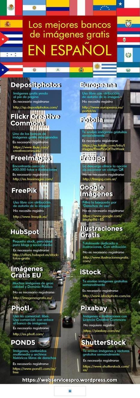 Los mejores bancos de imágenes gratis en español | Utilidades TIC para el aula | Scoop.it