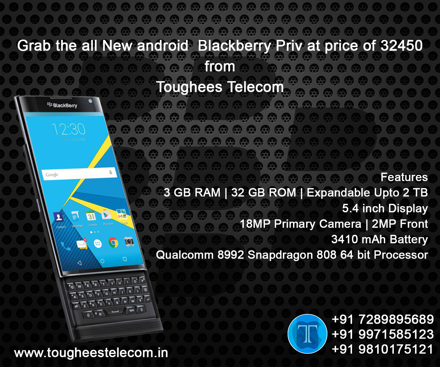 Grab the all new Android Blackberry Priv at pri