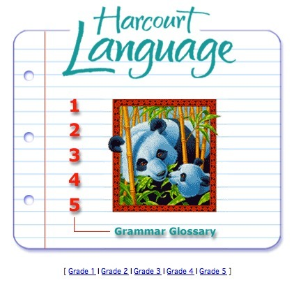 Harcourt Language - Grammar Glossary   TEFL & Ed Tech   Scoop.it