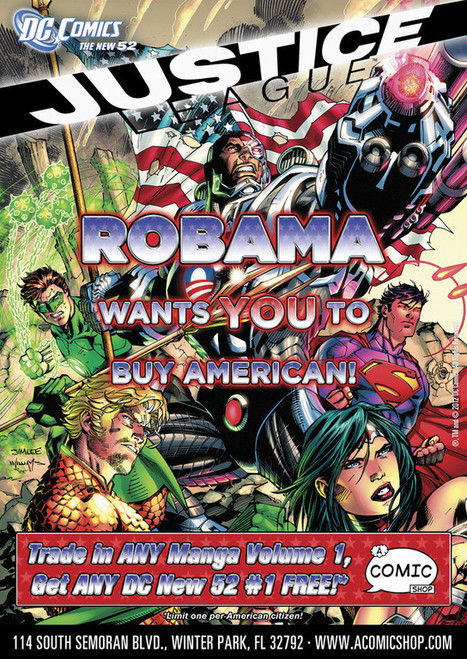 Robama Wants You to Buy American | Comic Books | Scoop.it