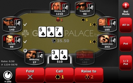 Golden Palace launches iOS and Android Poker powered by Amaya Ongame | Poker & eGaming News | Scoop.it