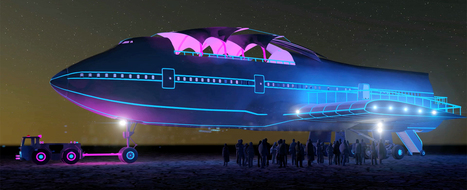 converted boeing 747 lands at burning man in nevada's black rock desert   What's new in Design + Architecture?   Scoop.it