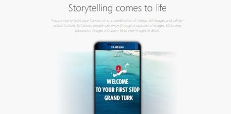 Le format Facebook Canvas disponible gratuitement pour les pages (organique) | Pense pas bête : Tourisme, Web, Stratégie numérique et Culture | Scoop.it