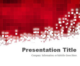 free pixels red powerpoint template | vanilla |, Powerpoint templates