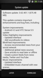 Android 4.3 with Sense 5.5 Rolling out to the HTC One   Android Discussions   Scoop.it