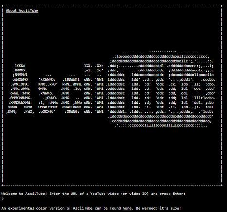 AsciiTube by Brad Greco - convert ANY YouTube v