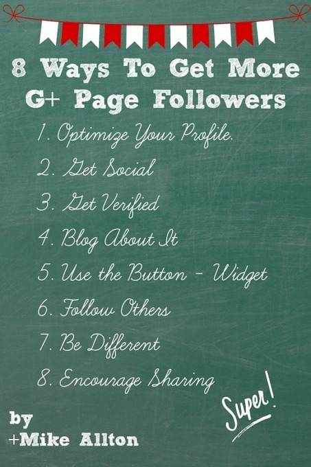 8 Ways to Get More Google+ Page Followers | Links sobre Marketing, SEO y Social Media | Scoop.it