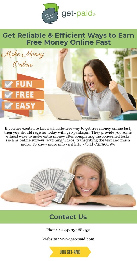 By Using Get Paid Services People Can Make Money from Home | Scoop it