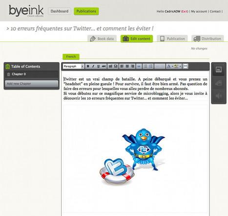 Byeink : pour créer, vendre et gérer ses eBooks au format ePub | Time to Learn | Scoop.it