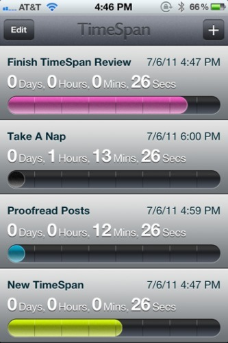 TimeSpan for iPhone is a beautiful way to count down to milestones | SOCIAL MEDIA, what we think about! | Scoop.it