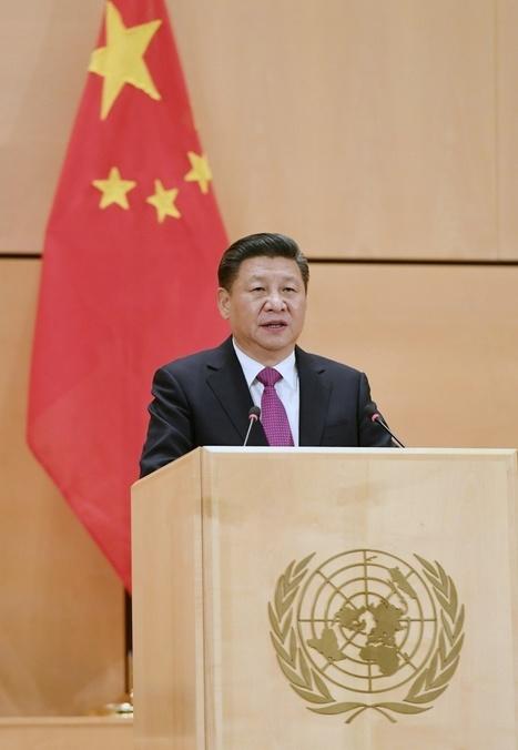 Photo : Xi Jinping prononce un discours à l'Office des Nations unies à Genève — Chine Informations | Herbovie | Scoop.it