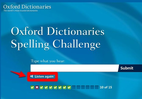 Oxford Dictionaries Spelling Challenge | Learning English | Scoop.it