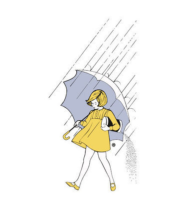 What is the Morton Salt Girl holding in her rig