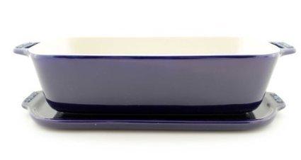 26 by 12 cm Dark Blue Staub Ceramic Terrine 1.5 Quart