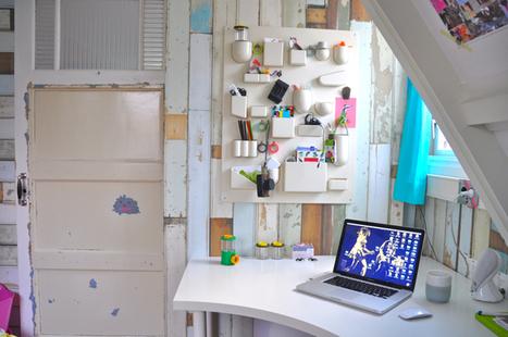 {Bureaux } Un bureau à l'esprit nature revisité   DecoCrush blog déco, idées déco   décoration & déco   Scoop.it