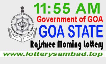 Goa State Rajshree Morning Lottery Result 20-03