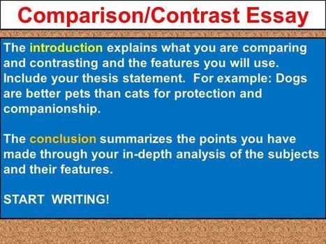 Comparison And Contrast Essay Conclusion Exampl