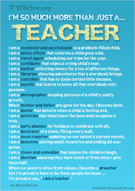 You are not Just A Teacher | If the world were a village - global thoughts for global education | Scoop.it