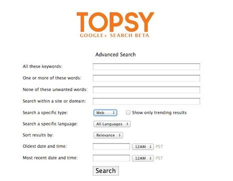 Topsy indexe les publications de Google+   Evolution Utilities   Scoop.it