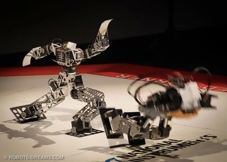 Cute mini-robots compete for championship title, gladiator freedom (video) | Educational technology | Scoop.it