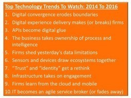 Top Technology Trends for 2014 And Beyond  /  Forrester | GIBSIccURATION | Scoop.it