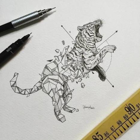 Abstract geometric animal illustrations by Kerby Rosanes | D_sign | Scoop.it