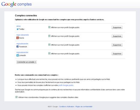 La recherche Google agrémentée de liens avec vos réseaux sociaux est disponible en France | toute l'info sur Google | Scoop.it