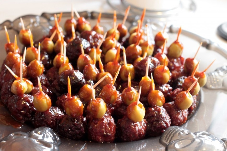 Halloween Recipe Zombie Eyeballs Meatballs
