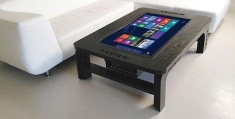 une table basse tactile et connect e. Black Bedroom Furniture Sets. Home Design Ideas