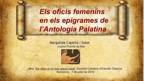 Els oficis femenins en els epigrames de l' Antologia Palatina | EURICLEA | Scoop.it