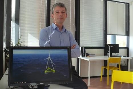 Une éolienne flottante à trois pieds | Eolien-Energies-marines | Scoop.it