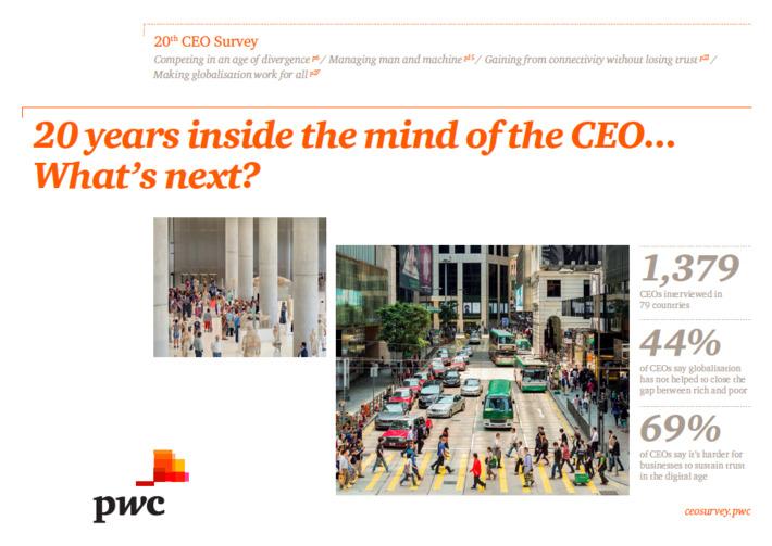 PwC CEO Survey 2017: What's next? | LeadershipABC | Scoop.it