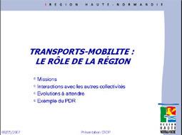 Le rôle de la Région Haute Normandie dans les transports et la mobilité. | twittgéo | Scoop.it