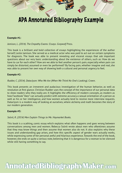 annotated bibliography sample apsa
