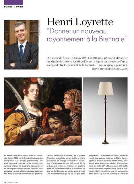 """Henri Loyrette """"Donner un nouveau rayonnement à la Biennale"""" (1/3)   La Biennale - Paris   Scoop.it"""