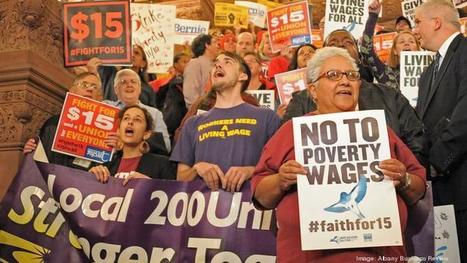 $15 an hour minimum wage debate gains momentum in New York state heading into 2016 - New York Business Journal | Labor and Employee Relations | Scoop.it