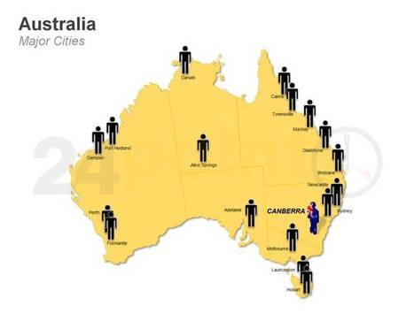 Australia Map - Editable PPT | PowerPoint Presentation Tools and Resources | Scoop.it