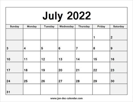 Calendar June And July 2022.Blank Printable February Calendar 2019 Tem
