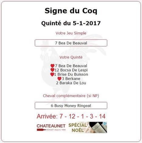 Samedi 28/01/2017 c'est la l'année du Coq.Dimanche 29/01/2017 le prestigieux Grand Prix d'Amérique. | Pariez avec ASTROQUINTE | Scoop.it