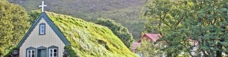Iceland: 19th century green-roofed church is straight out of a fairy tale | Beyond London Life | Scoop.it