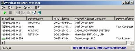 Wireless Network Watcher - Show who is connected to your wireless network   ICT Security Tools   Scoop.it