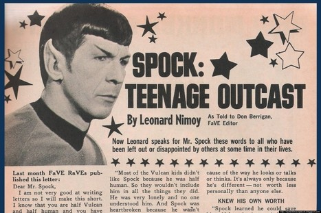 LOOK: Spock Says Don't Worry About Fitting In, Stand Out | It's Show Prep for Radio | Scoop.it
