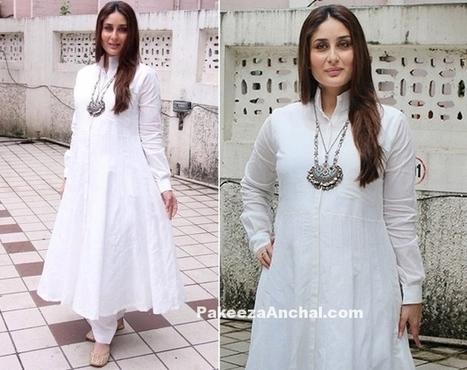 e1a8c8f2684 Kareena Kapoor in White Anarkali Rajesh Pratap Singh