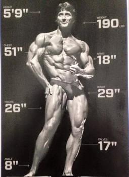 Frank Zane Body Stats Ripped Body Old School