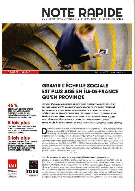 Ile-de-France - Gravir l'échelle sociale est plus aisé en Île-de-France qu'en province | Dernières publications des agences d'urbanisme | Scoop.it