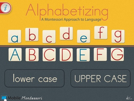 Alphabetizing – A Montessori Approach to Language | Apps for Children with Special Needs | Scoop.it